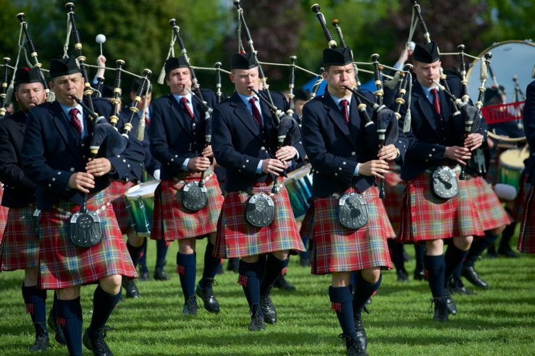 Bands playing in British Pipe Band Championships 2017