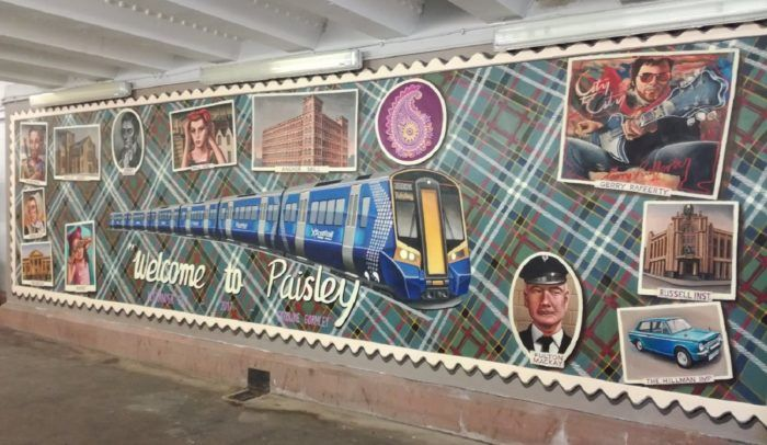Paisley First mural at Gilmour Street Station