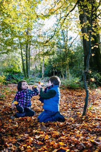 Children playing at Finlaystone Estate