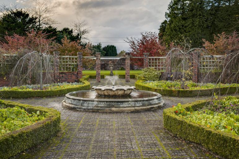 Walled Garden and fountain at Finlaystone Estate