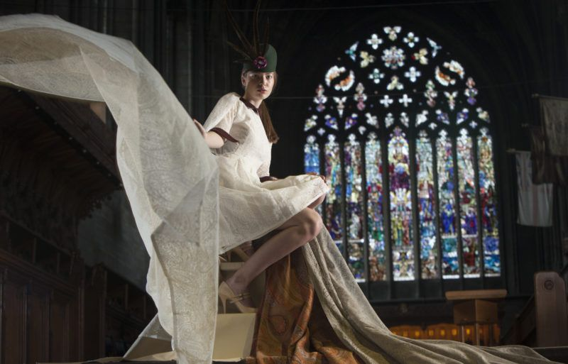 Paisley Make designs modeled in Paisley Abbey. Photo by Chris James