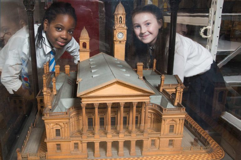 School pupils explore Paisley: The Secret Collection