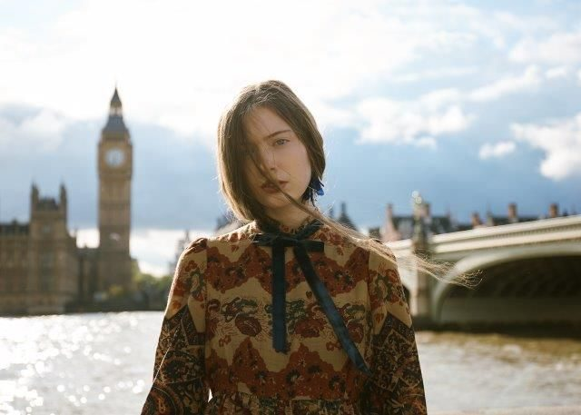 Paisleymake in London. Vintage Paisley Pattern Dress in Liberty Fabric: Marion Donaldson. Photography Stewart Bryden