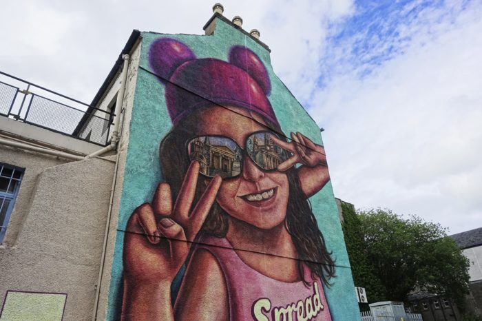Paisley First mural on Storie Street