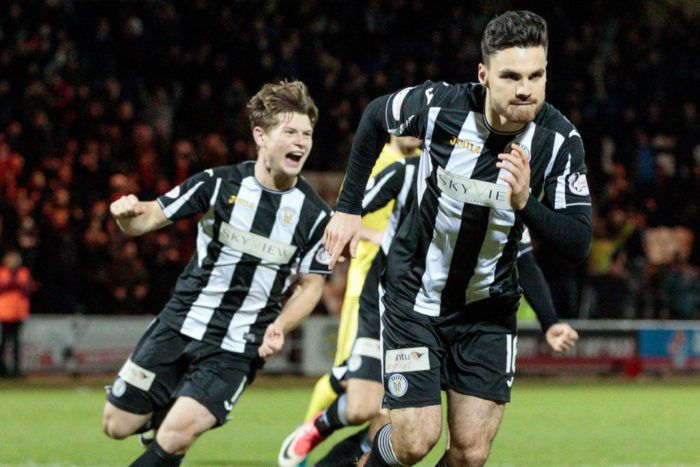 Footballers in action for St Mirren FC