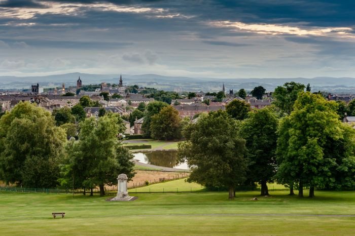 View of Paisley from Barshaw Park