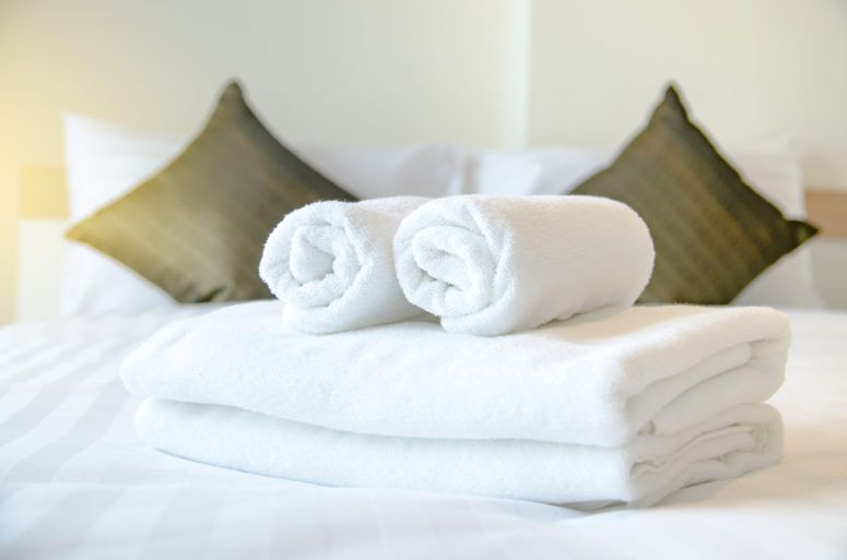 Fresh towels and linen at a Renfrewshire hotel