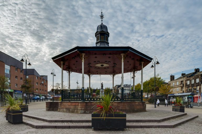 Johnstone town centre bandstand