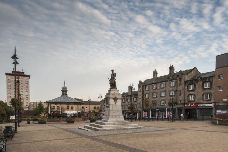 Johnstone town centre statue