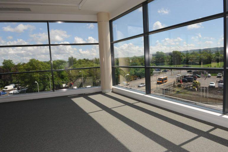 View from inside Linwood's Tweedie Hall