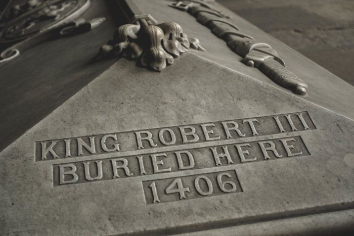 Grave of King Robert III in Paisley Abbey
