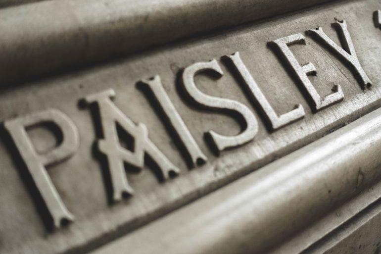 Paisley Abbey stone text