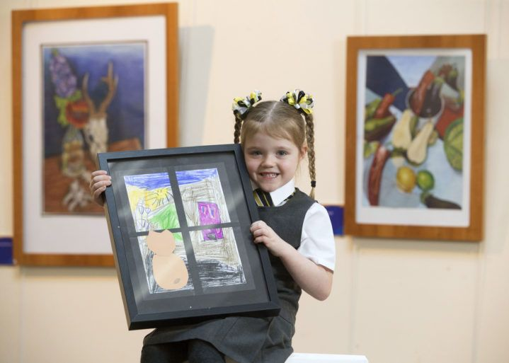 Inspired exhibition showcasing local youngsters art, including winner Niamh McKniff (5)