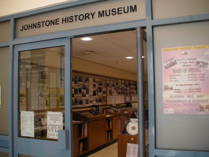 Front doors of Johnstone history museum