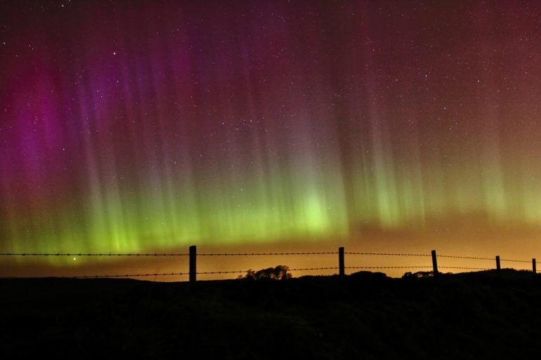 Gary Chittick's photograph of the Aurora in Renfrewshire