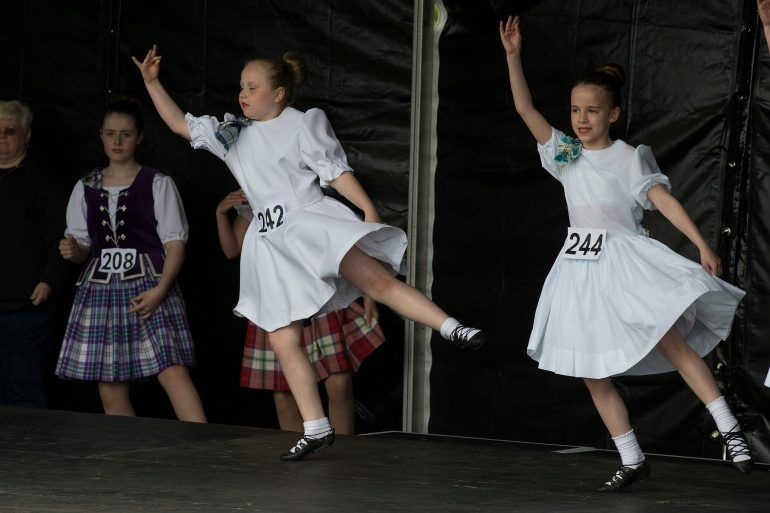 Highland dancers compete at British Pipe Band Championships 2017
