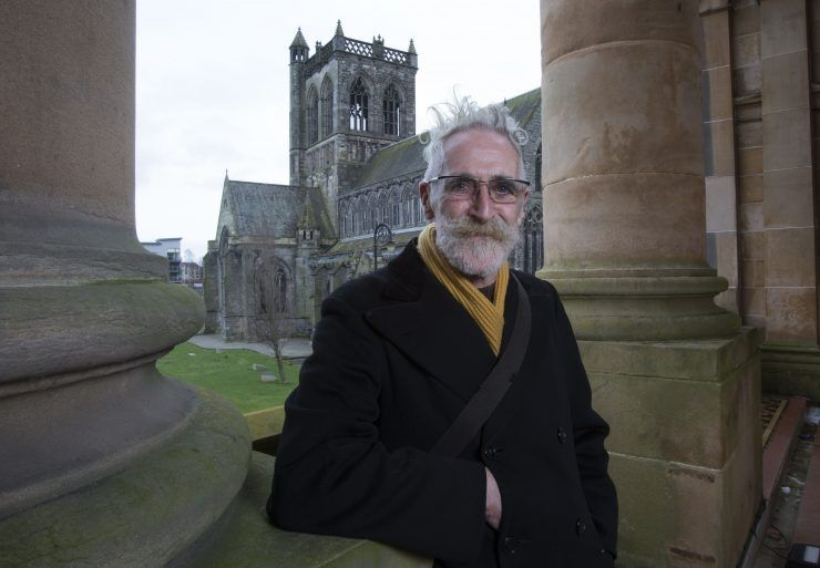 Playwright John Byrne at Paisley Town Hall