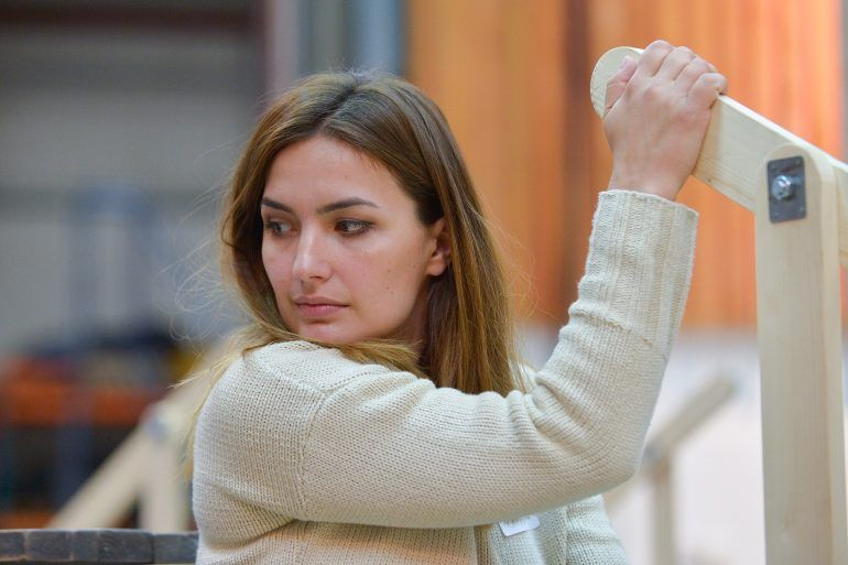 Anna Patalong at Pagliacci rehearsals