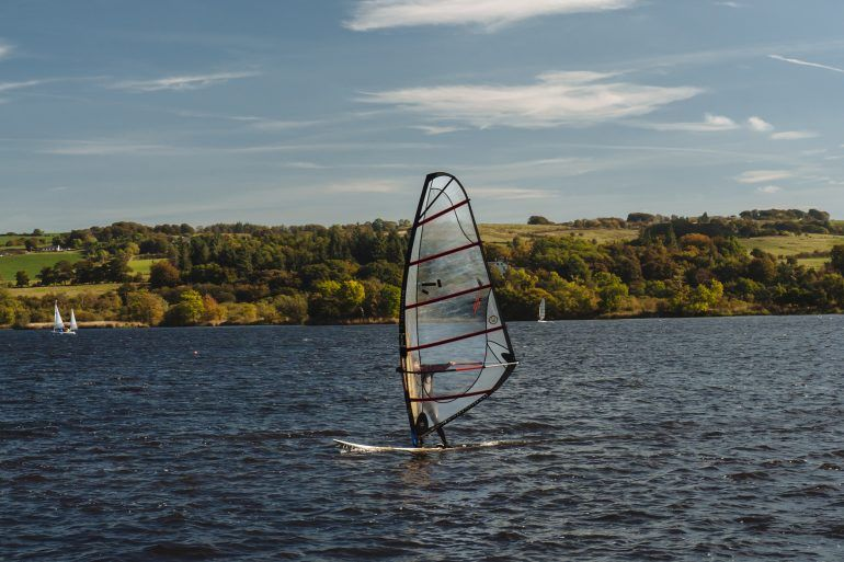 Windsurfing on Castle Semple Loch