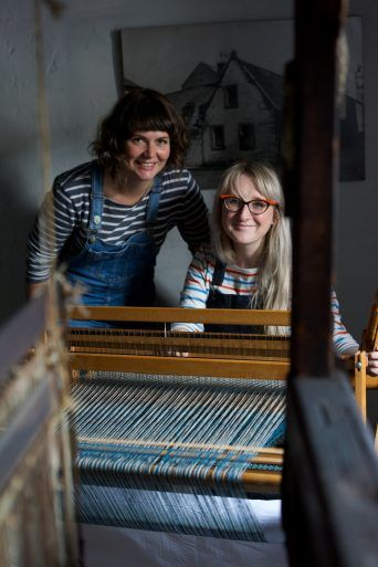 Sma' Shot Cottages weavers in residence, Shielagh Tacey and Heather Shields