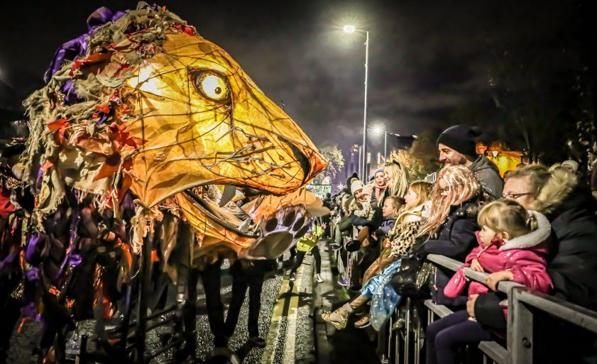 Paisley Halloween Festival 2019 Mardi Gras Parade through the town centre