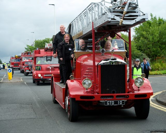 Fire engine rally at Johnstone