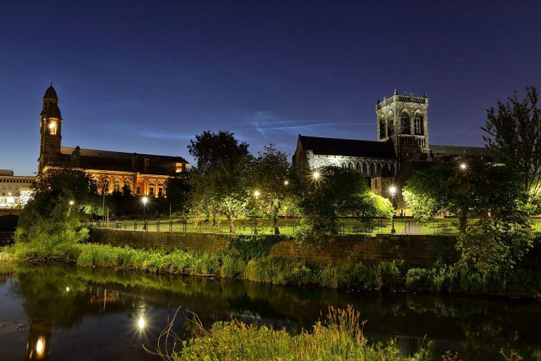 Paisley Abbey and Town Hall - Gary Chittick