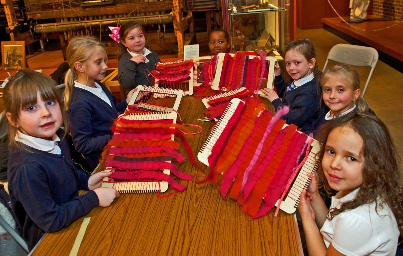 St Mary's PS weaving class