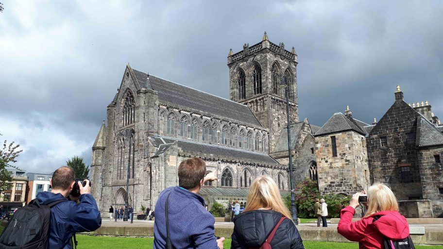 Visitors to Paisley Abbey
