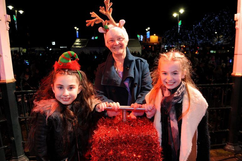 Switching on the Christmas lights
