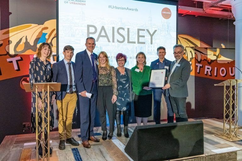 Paisley wins Best Town at Urbanism Awards