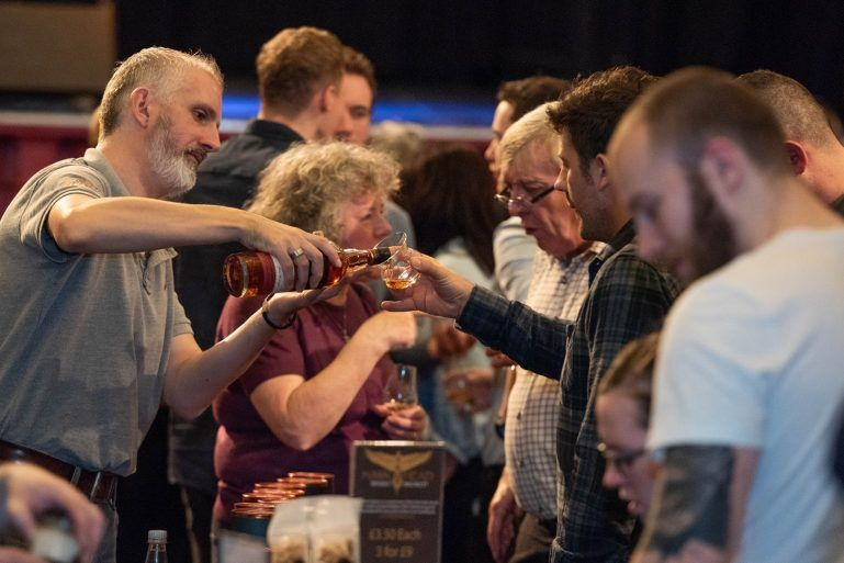 Whisky festival in Paisley Town Hall