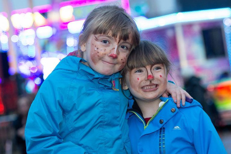Kids enjoy Johnstone Christmas Lights