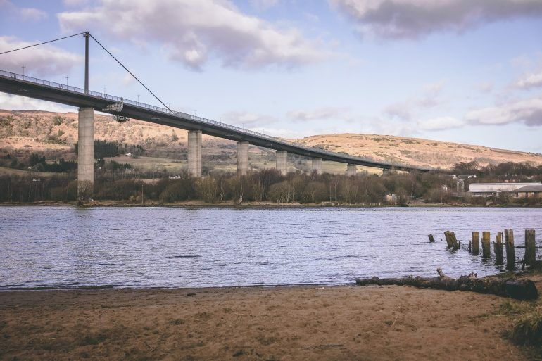 Erskine beach and bridge