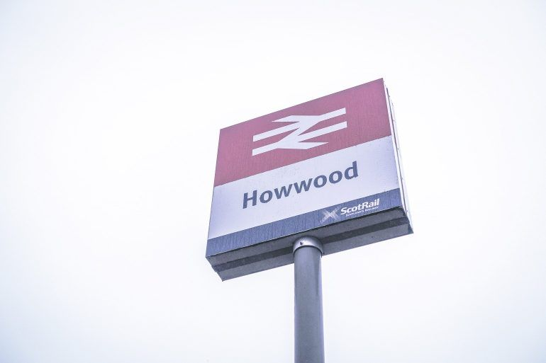 Howwood Rail Station sign