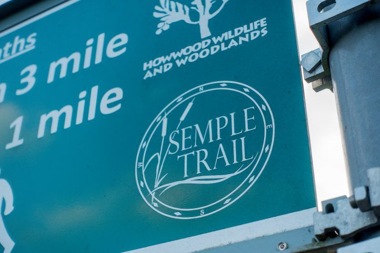 Semple Trail sign in Howwood