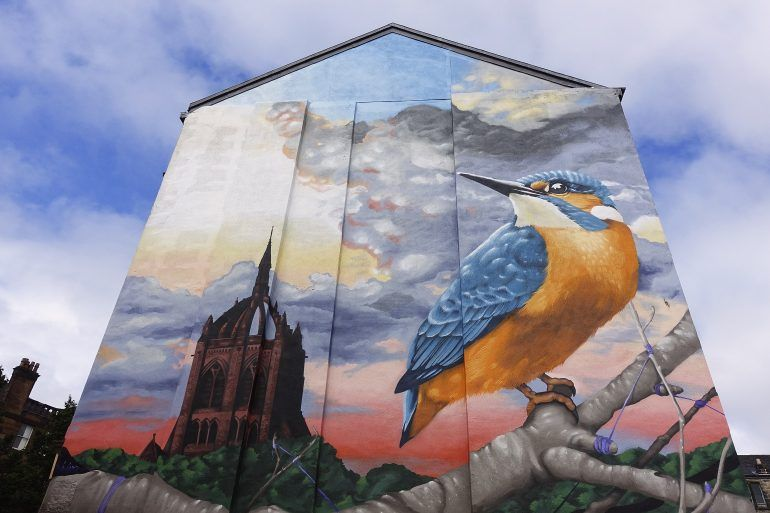 Mural on Johnston Street building, Paisley