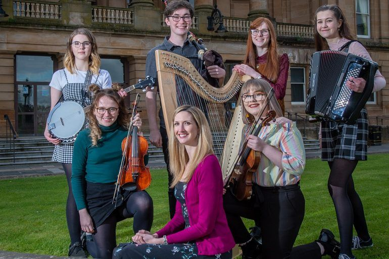 Joy Dunlop with Gaelic music performers