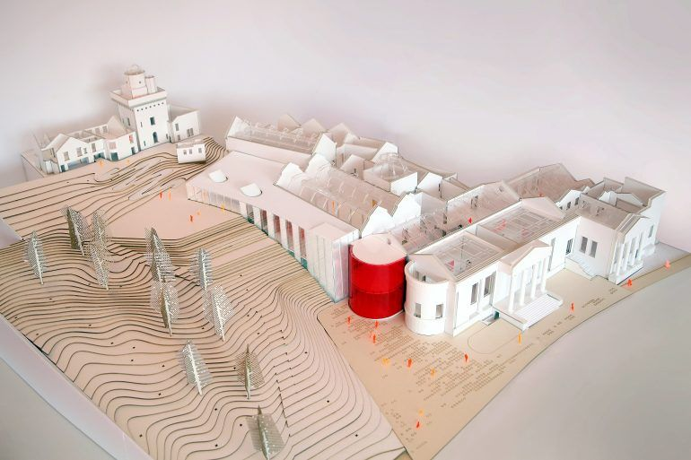 Sketch model of Paisley Museum Reimagined