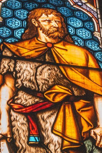 William Wallace stain glass window at Paisley Abbey