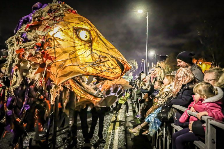 Paisley Halloween Festival 2019 Mardi Gras Parade through the town centre