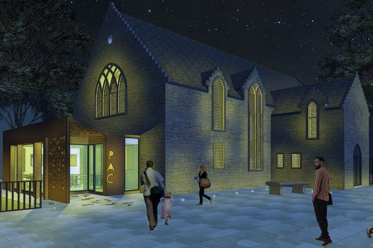 Artist's impression of Paisley Arts Centre front approach