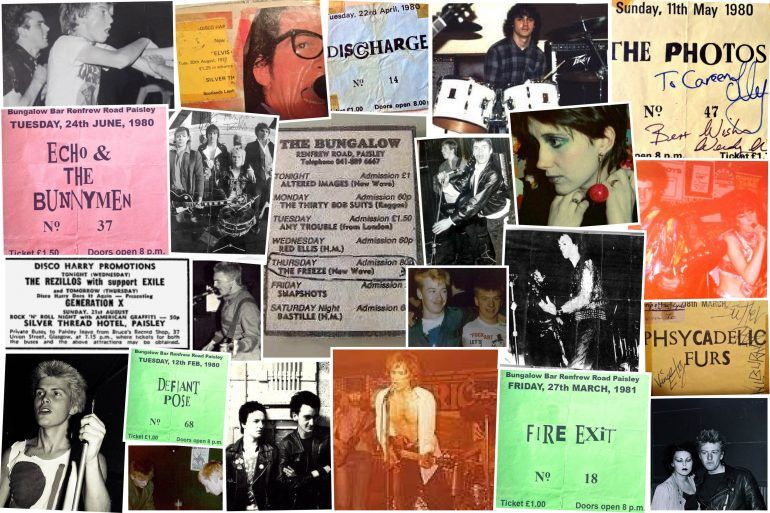 Collage of punk images