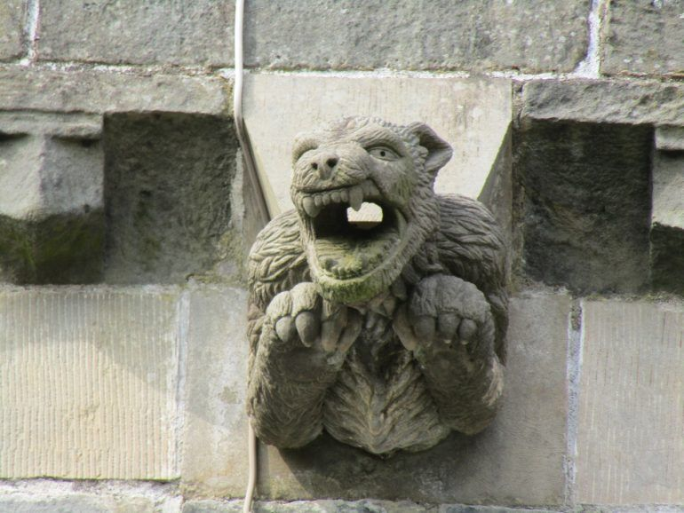 Gargoyle on the exterior of Paisley Abbey