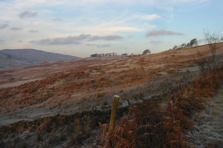 Frosty morning in Muirshiel Country Park