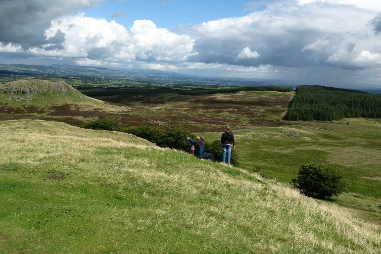 Family enjoys views from Windyhill