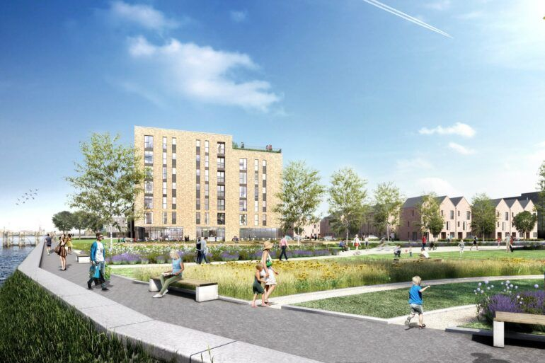 Artist's impression of potential development at Clyde Waterfront and Renfrew Riverside