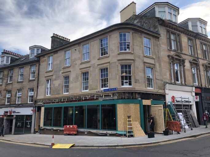 41 High St - Shop front during works