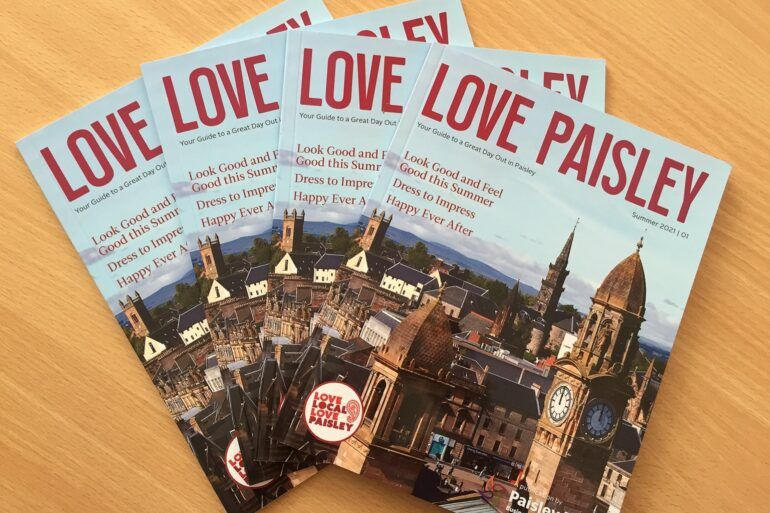 Cover of Love Paisley magazine from Paisley First