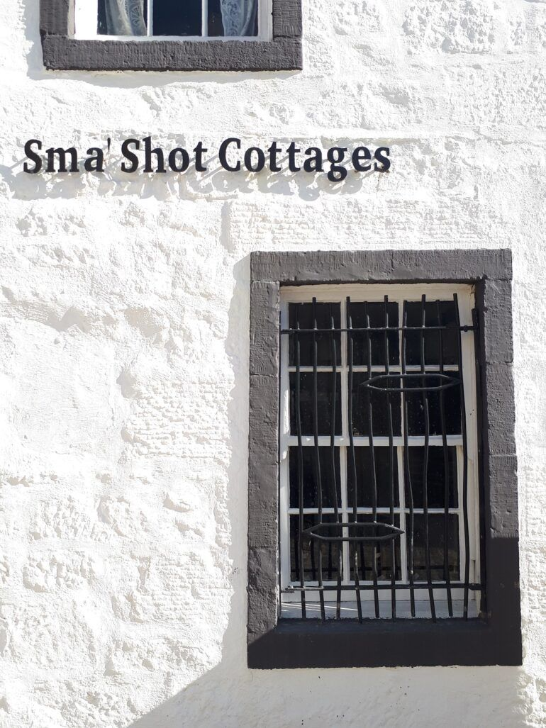 Sma' Shot Cottages - decorative grille and new signage